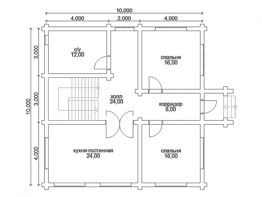 какой размер дома лучший для удобного проживания 4 человек