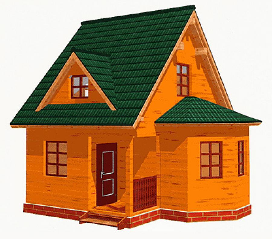 Дом под ключ из профилированного бруса 100 х 150 мм.